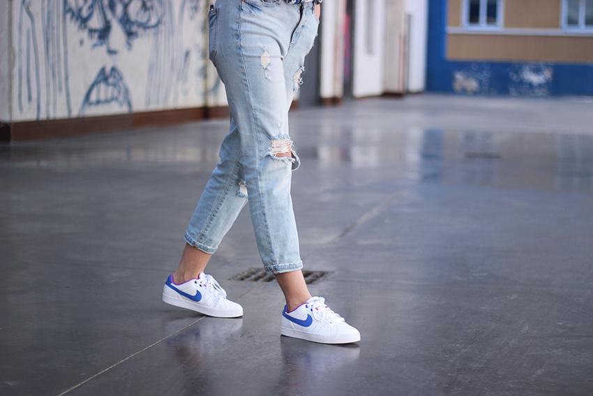 baskets-nike-blanc-bleu